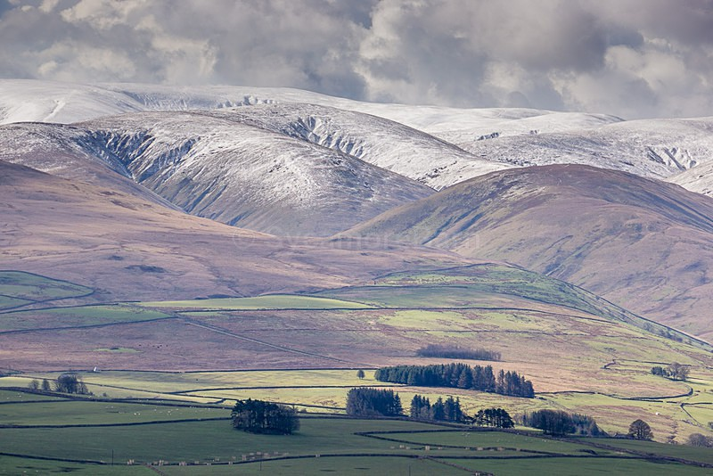 A light dusting of snow on the Howgills - Landscape Gallery