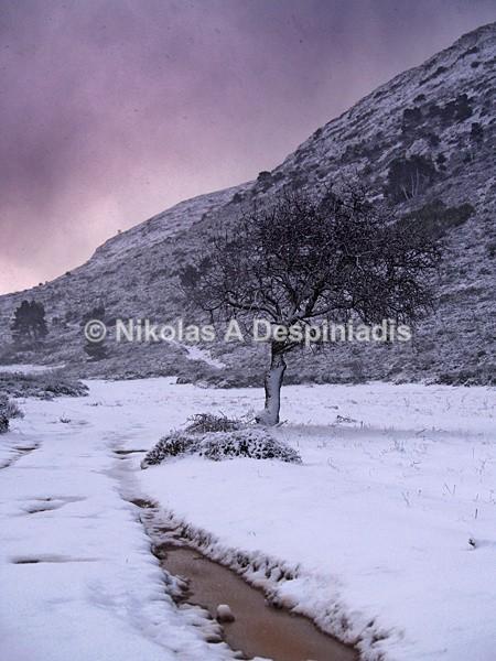 Snowscape I Χιονισμένο τοπίο - Αττική Ι Attica