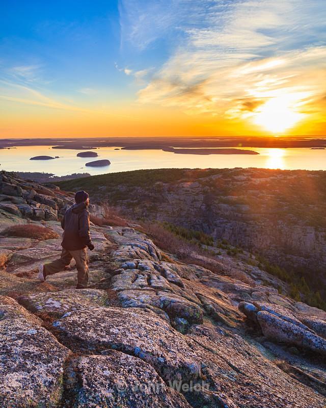 Cadillac Mountain Sunrise Hiker - Maine