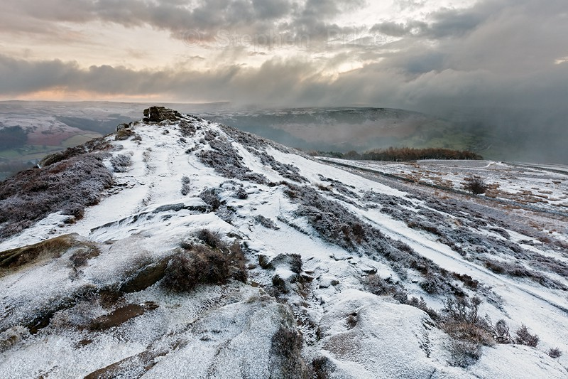 Peak District Winter | Win Hill Snow | Peak District Landscape