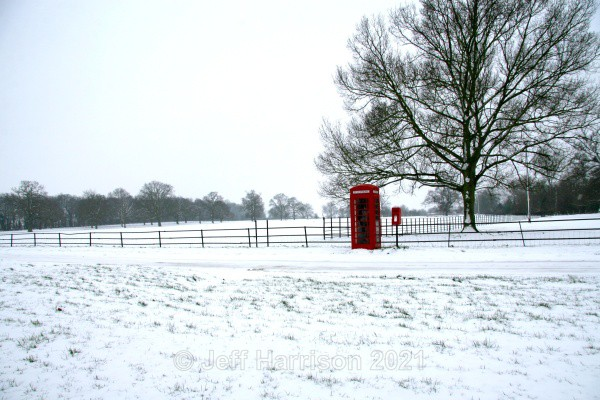 'Phone and Post boxes in the snow ((image Wimp H 01) - Landscapes & Skies