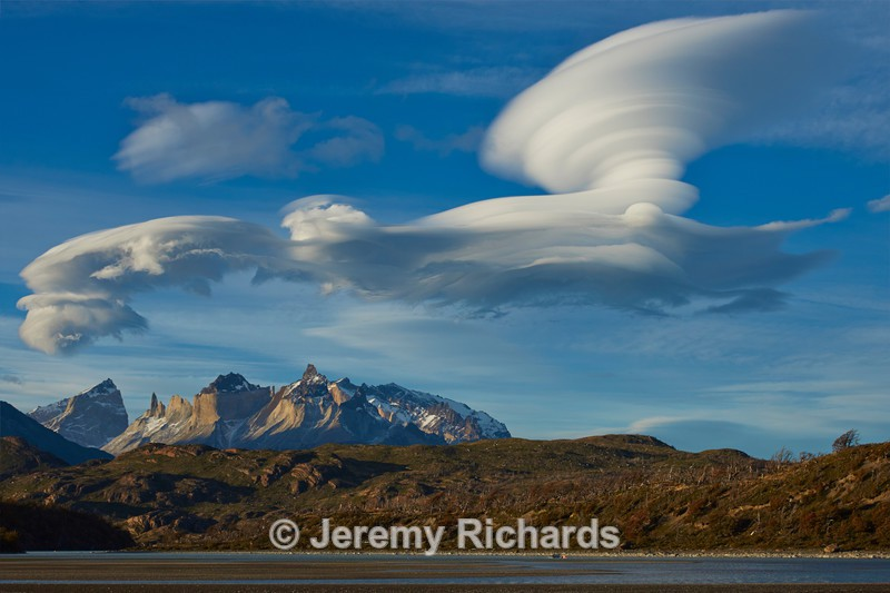 Lenticular clouds in Torres del Paine National Park - Torres del Paine National Park