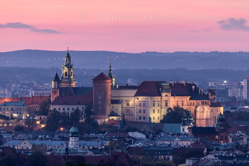 Krakow Castle Night Photography | Krakow Poland Cityscape