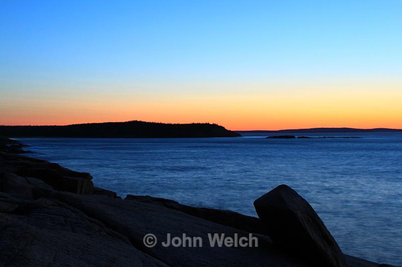 Pre-Dawn Acadia Coast - Maine