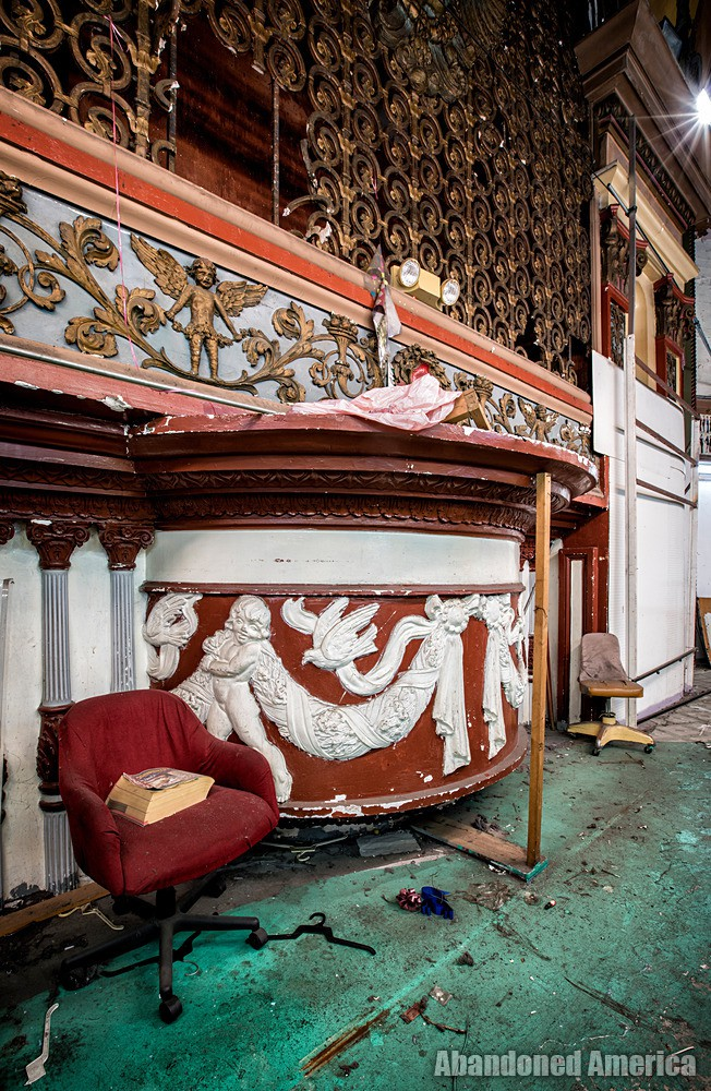 Molding Details at The Westlake Theatre, Los Angeles, CA   Abandoned America