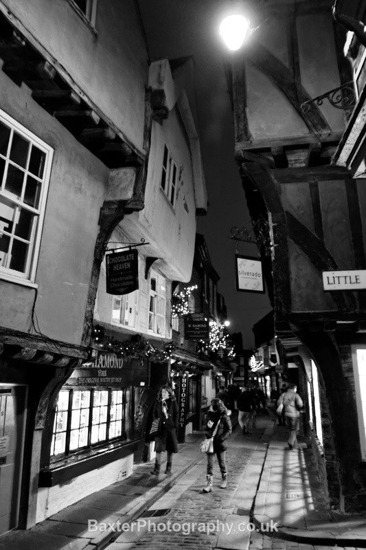 The Shambles York (monochrome) - Views Around Harrogate: