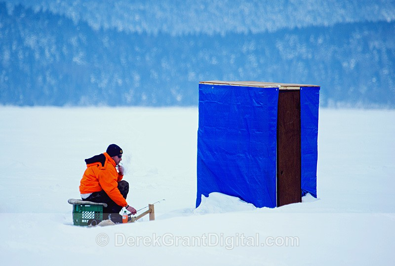 Renforth Smelt Fishing New Brunswick Canada - Ice Shacks