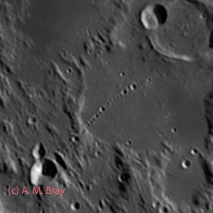 Davy crater chain - Moon: Central Region