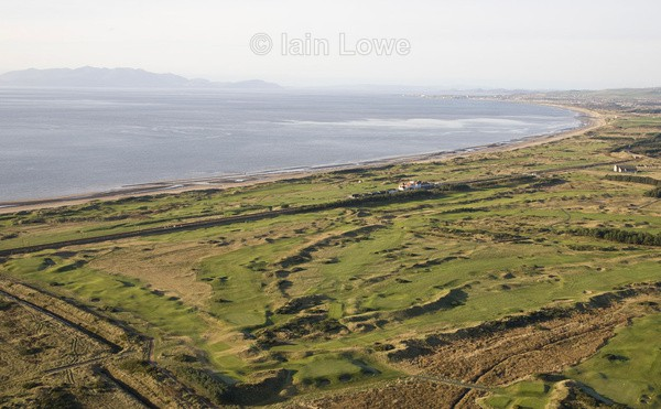 Aerial Dundonald GC - Scottish Links Aerial Images
