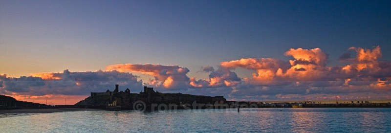 Line of clouds at Peel Castle - Life on Man