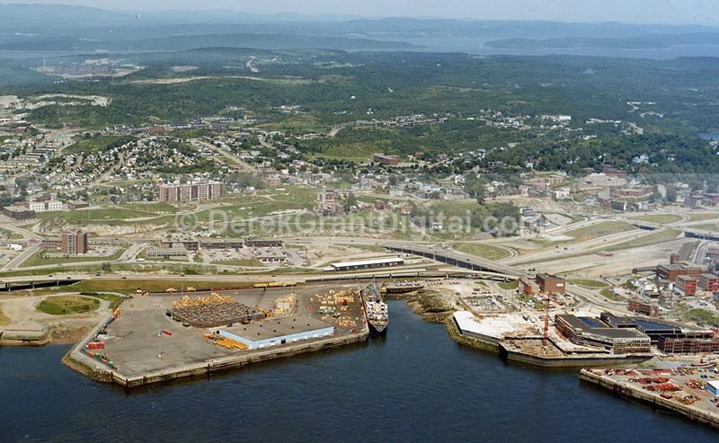 Port of Saint John looking Northward Circa 1982 - Historic New Brunswick