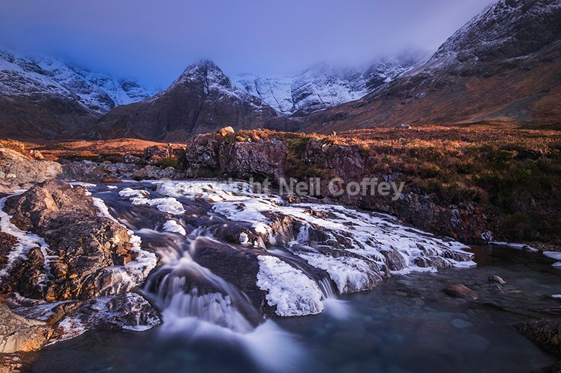 Fairy Pools & The Cuillins, Coire na Creiche, Isle of Skye - Landscape format