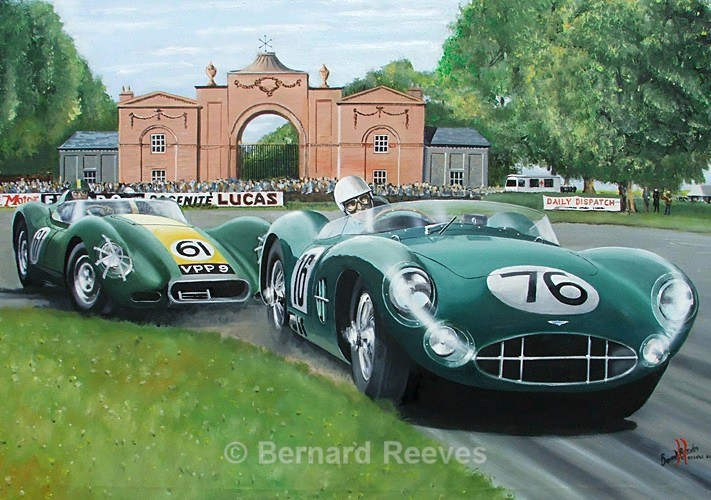Stirling Moss and Archie Scott-Brown Oulton Park 1958 - Classic cars
