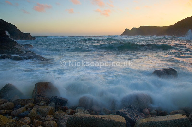 Landscape Photography from a Stormy Evening at the secluded Nanjizal Beach and Mill Bay in Cornwall