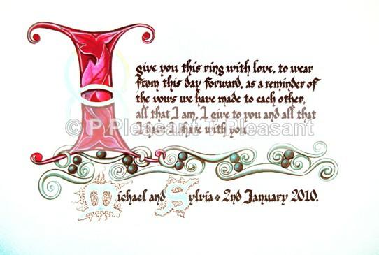Personalised vows - Weddings and anniversaries