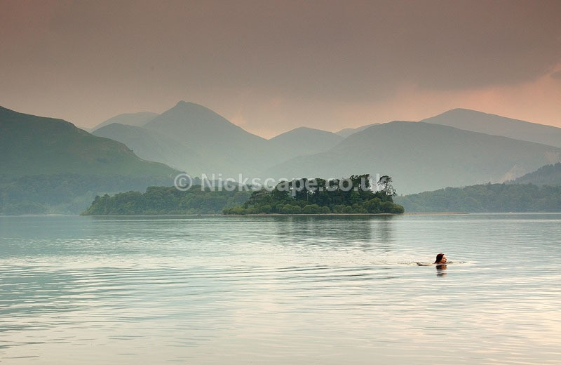 Derwent Water Open Water Swimming   Lake District Landscape Photography