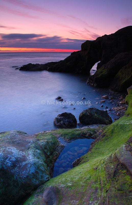 Cullercoats Bay Sea Arch - Northumberland