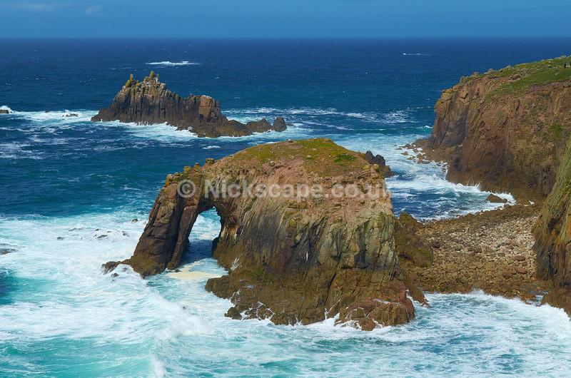 Enys Dodnan Rocks at Lands End - Cornwall UK - Cornwall