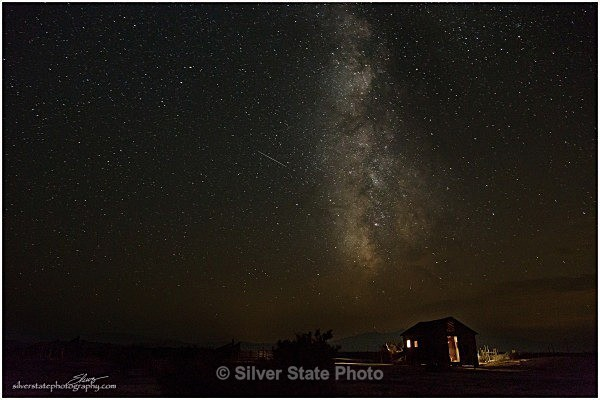 Perseid-Cabin-web - Night Photography