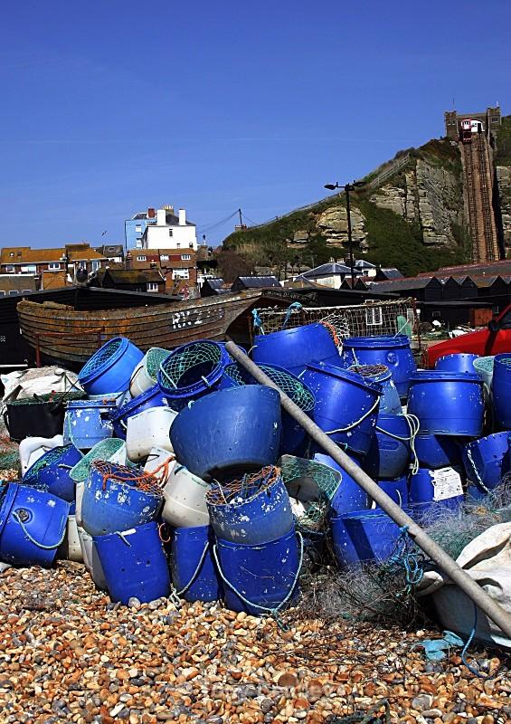Blue Buckets - Landscapes