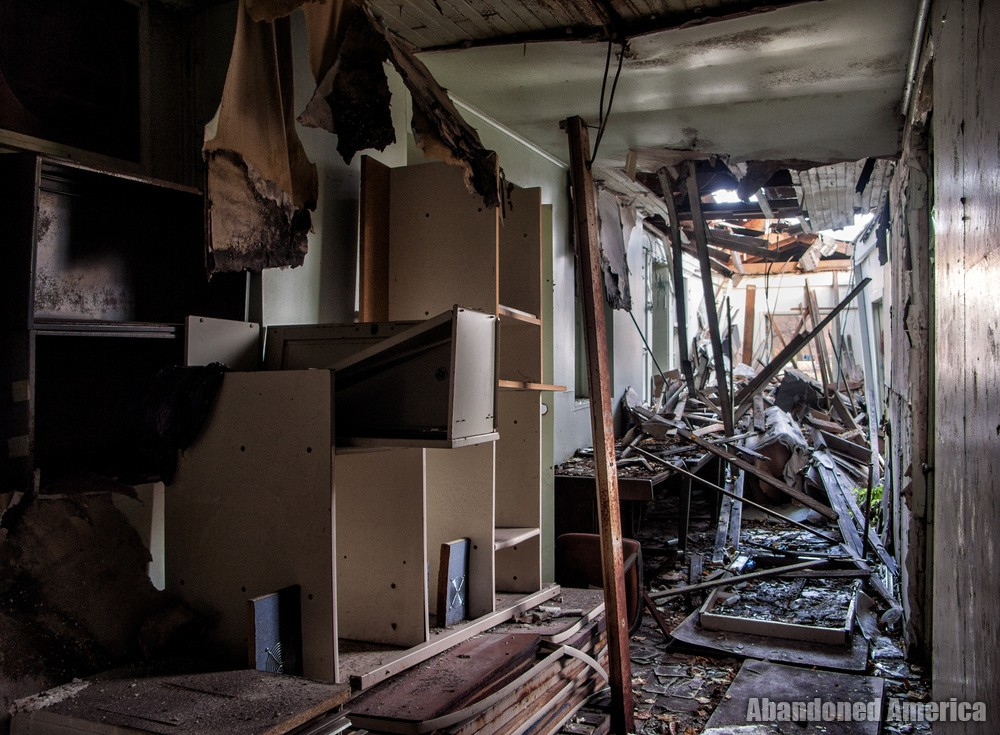 The Rosewood Center (Owings Mills, MD)   Collapsed Hallway - The Rosewood Center