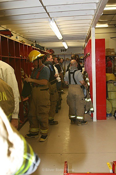 Crew getting ready for training - Fallon/Churchill Fire Department