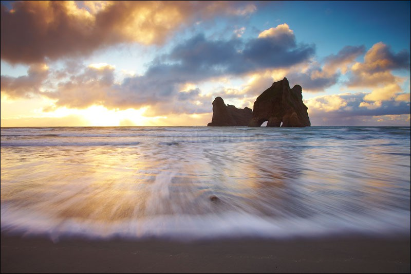 Wharariki Sunset - Photographs of New Zealand