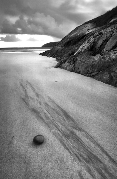 Fine Art Monochrome Of A Pebble On A Beach At Barleycove, Mizen Head, Co. Cork, Ireland.