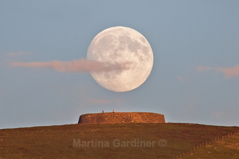 Grianan and a Big Moon - Ireland by Day