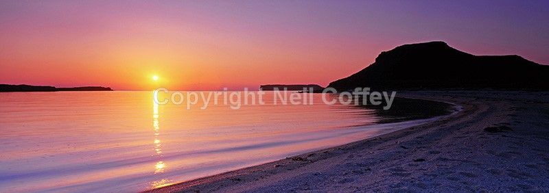 Sunset from Coral Beach, Isle of Skye - Panoramic format