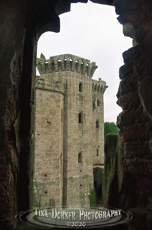 Gatehouse tower view through window. from 'Hidden Stone,' Forest of Dean and Wye Valley Portfolio by Tina Dorner Photography