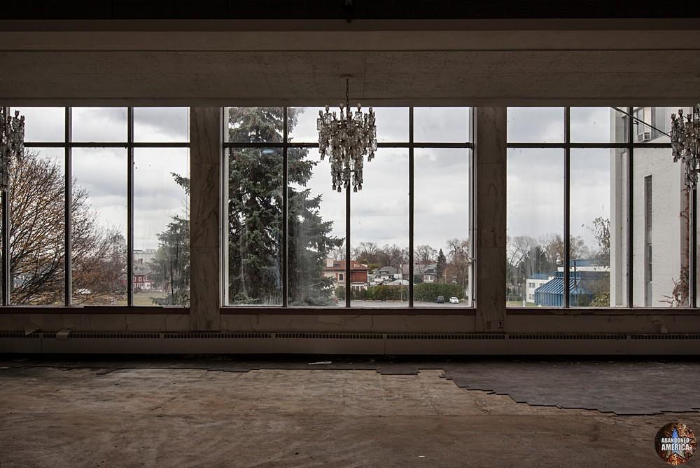 View from ballroom, Fallside Hotel (Niagara Falls, NY)   Abandoned America