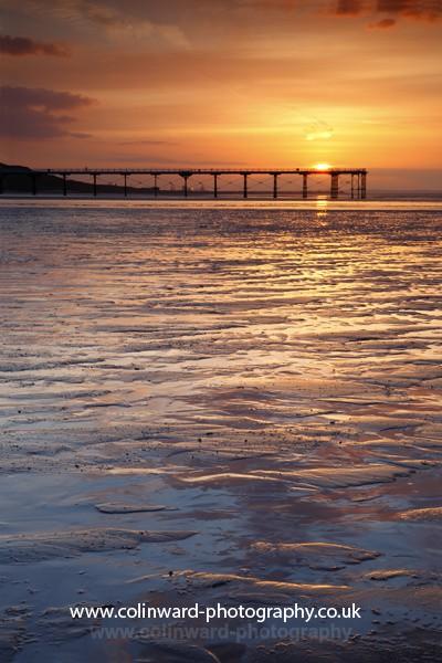 Saltburn sunset Ref 0434mk2 - North Yorkshire and Cleveland
