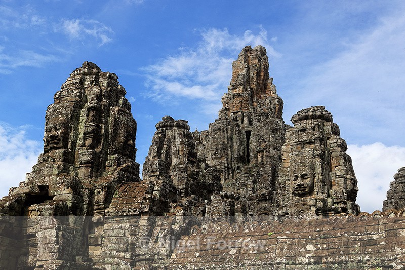 Towers at Bayon, Angkor Thom, Cambodia - Cambodia