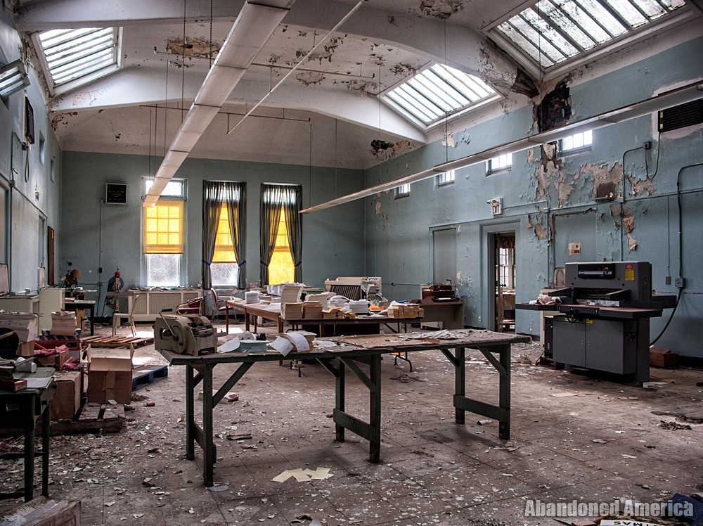 Overbrook Asylum (Cedar Grove, NJ) | Workshop Area - The Essex County Hospital Center