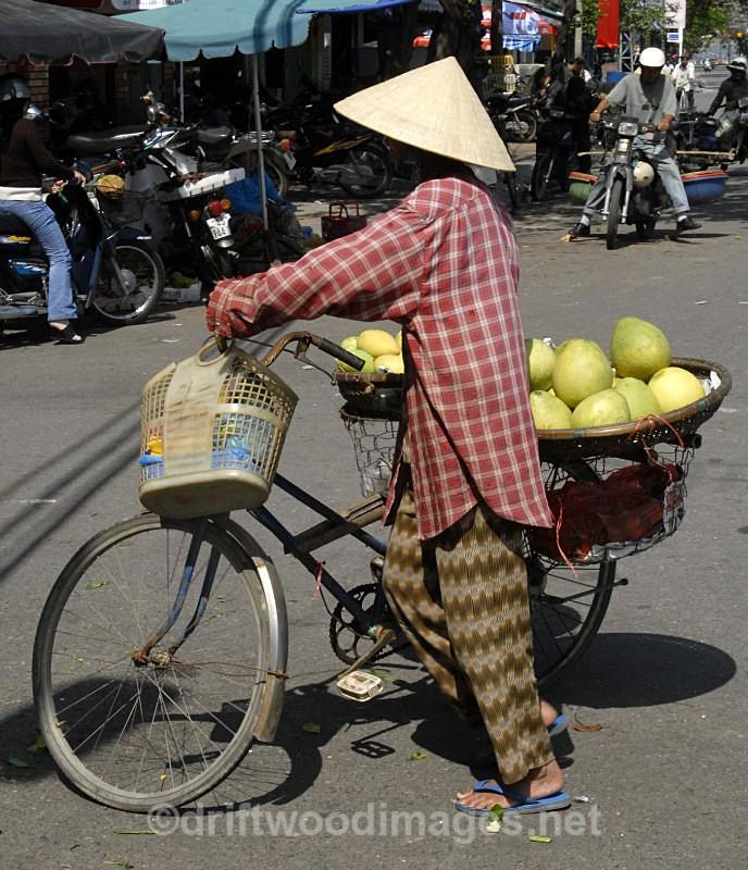 Melon seller, Vietnam - South East Asia