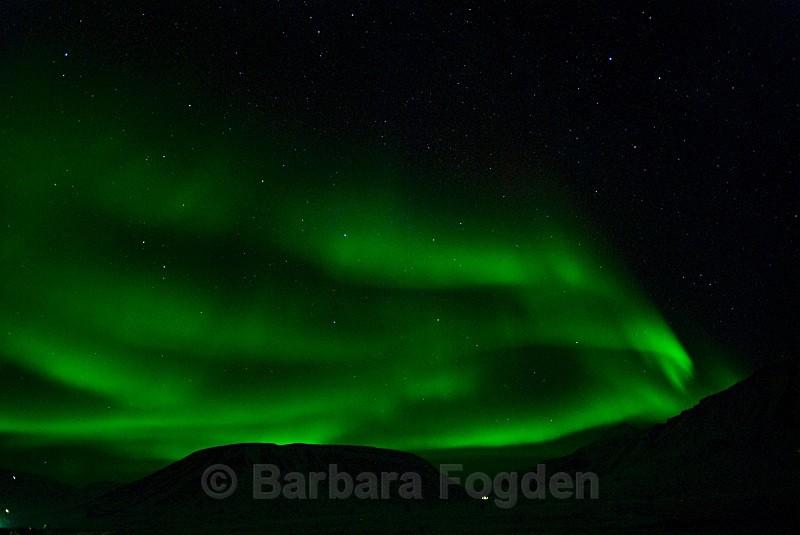 Northern lightin Adventdalen 1875 - Polar night