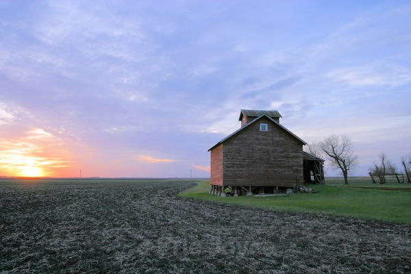 Grainery Sunset - Barns & Remnants
