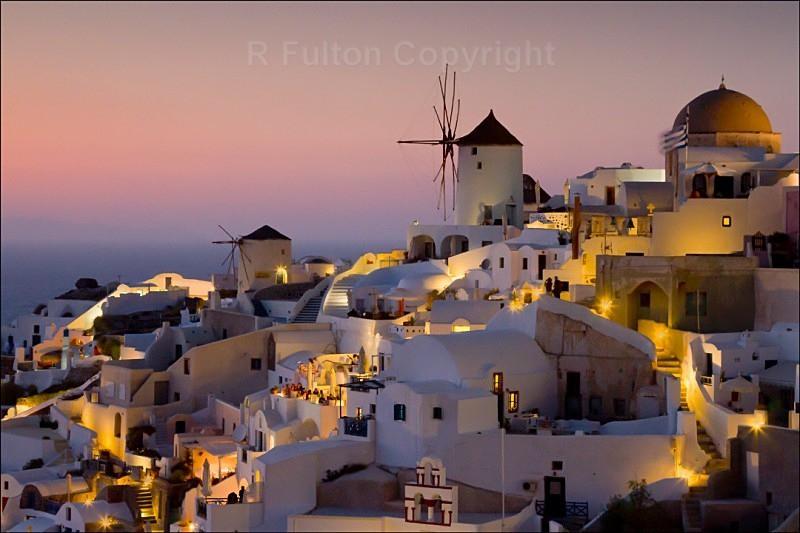 Twilight Santorini - Landscapes