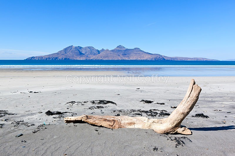 Isle of Rum from Laig Bay, Isle Of Eigg_ - Landscape format
