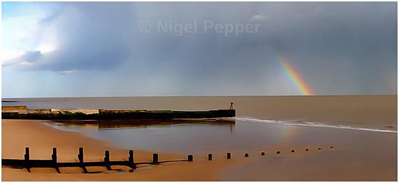 Beach Rainbow - Dramatic Weather