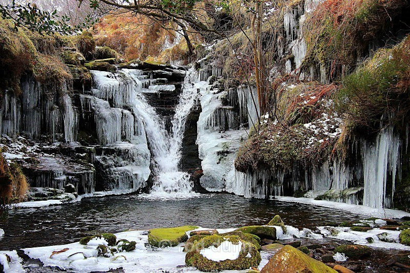 Fair Brook in winter - Peak District