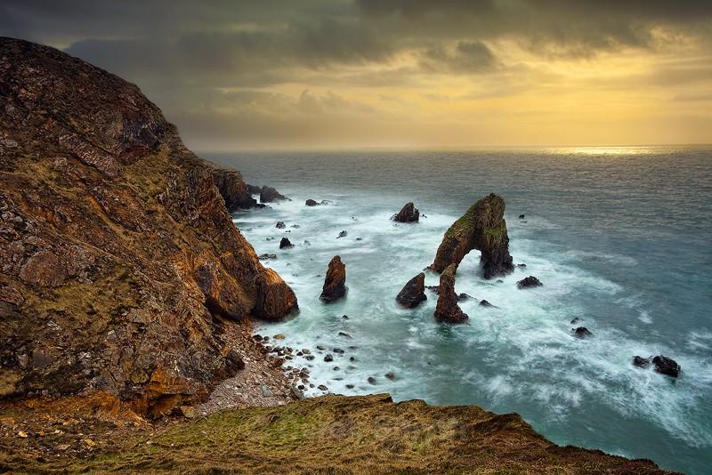 Irish Sea Stacks and Sea Arches - Breeches Sea Arch at Crohy Head