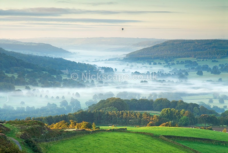 Chatsworth House Autum Mist | Peak District Views & Landscapes