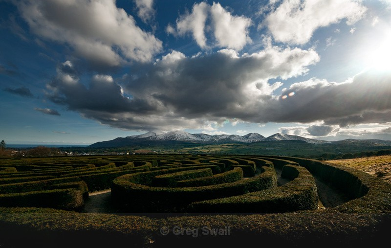 Castlewellan Maze - At the Foot of the Mountain