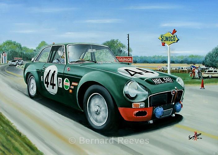 MGC -  Paddy Hopkirk at Sebring 1968 - Classic cars
