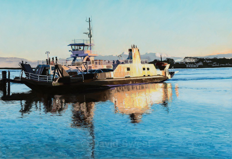 Last ferry to Strangford - Paintings
