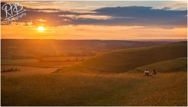 Sunset Watching - Roundway Hill - Wiltshire & West Country Landscapes