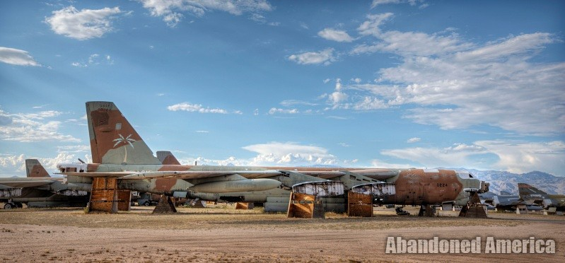 B54 Stratofortress at AMARG Aerospace Reclamation and Maintenance Group, Tucson AZ - Matthew Christopher Murray's Abandoned America