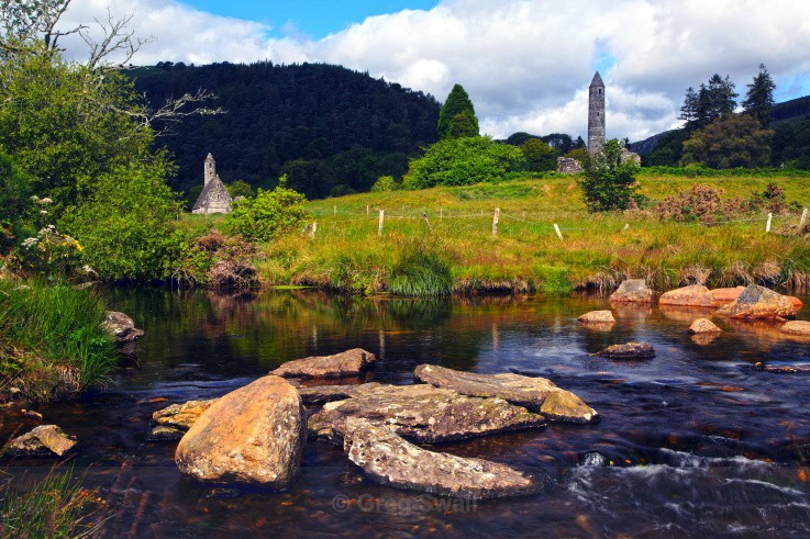 Glenealo River View - Landscapes of Ireland - Glendalough and the Wicklow Mountains